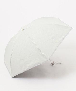 MOONBAT FURLA 晴雨兼用折傘 ジャカード オフホワイト