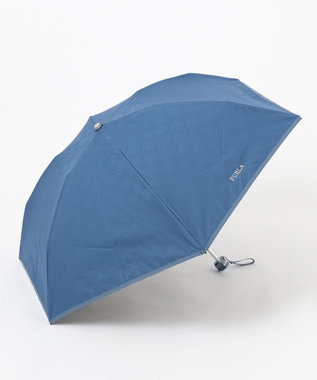 MOONBAT FURLA 晴雨兼用折傘 ジャカード ネイビーブルー