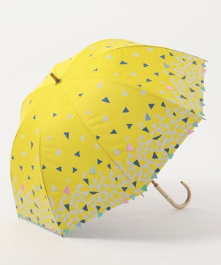 MOONBAT cocca 晴雨兼用長傘 triangle drop イエロー