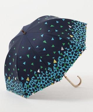 MOONBAT cocca 晴雨兼用長傘 triangle drop ネイビーブルー