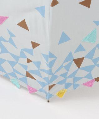 MOONBAT cocca 晴雨兼用長傘 triangle drop ライトグレー