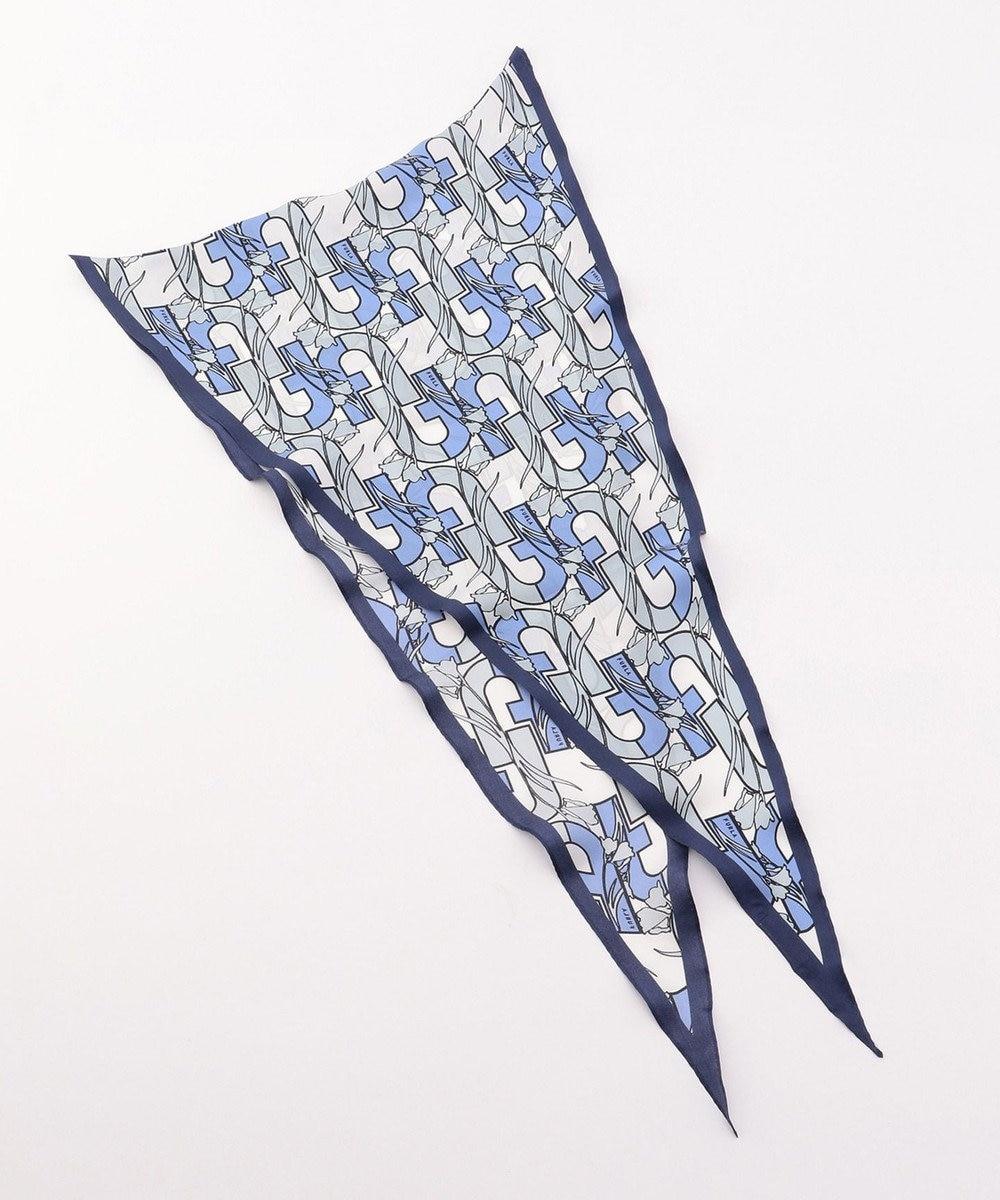 MOONBAT FURLA スカーフ ネイビーブルー