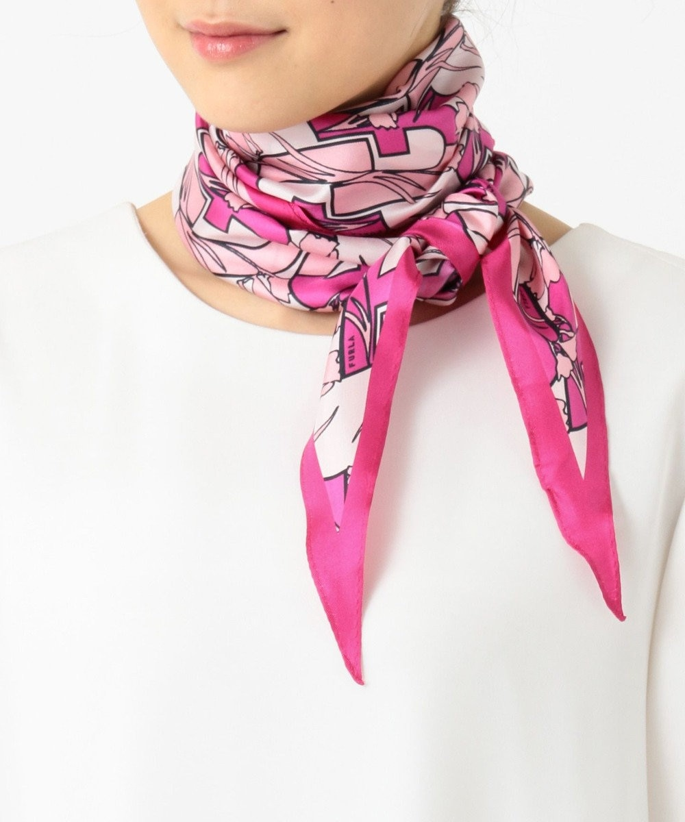 MOONBAT FURLA スカーフ ローズピンク