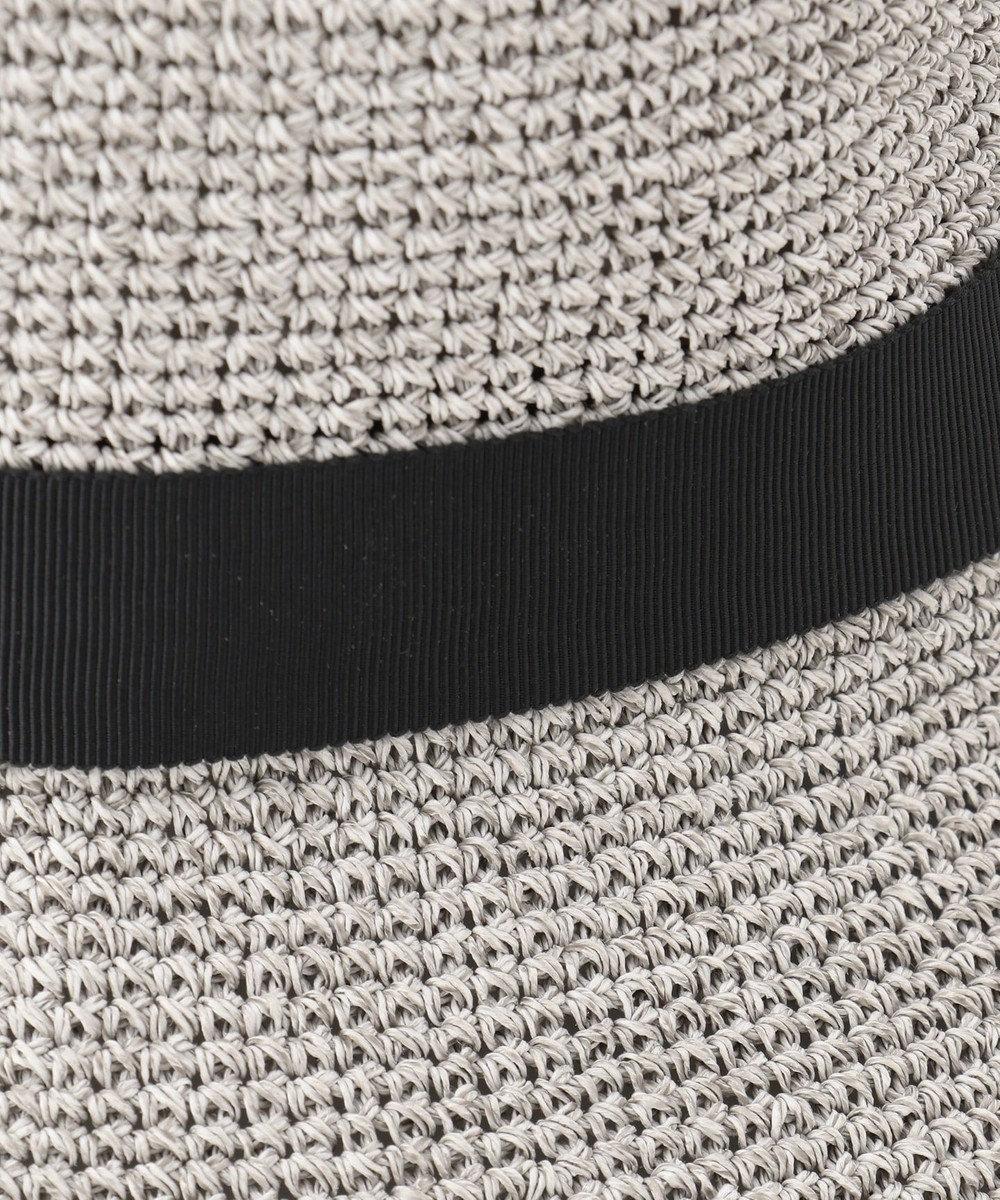 MOONBAT FURLA 洗える天然こま編みハット ライトグレー
