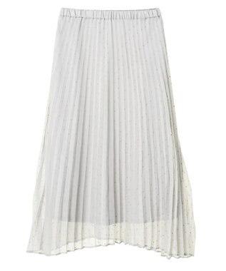 AMERICAN HOLIC ドットフロッキーシフォンプリーツスカート Light Gray