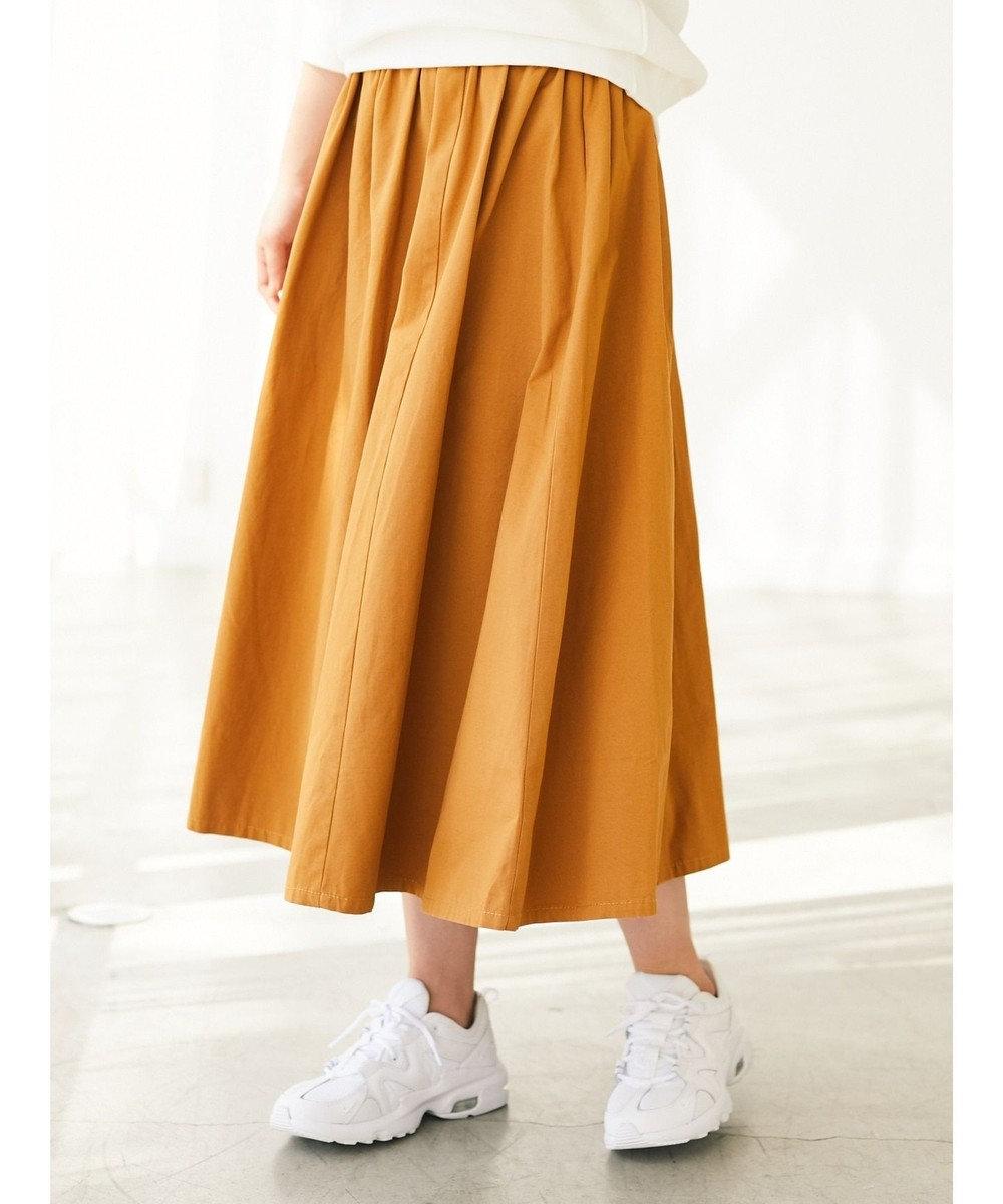 Green Parks ・RAY CASSIN ギャザーロングスカート Mustard