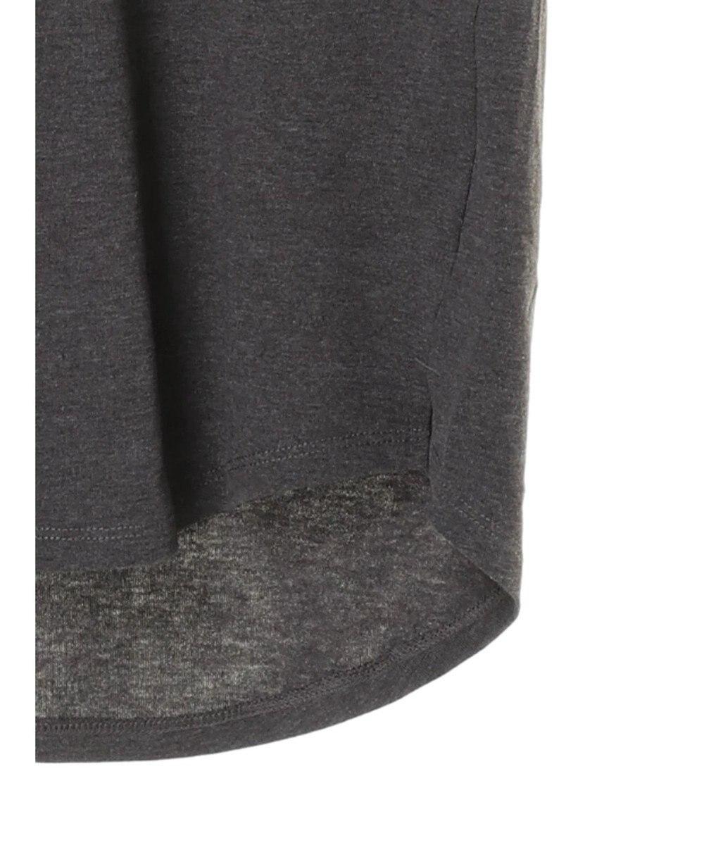 AMERICAN HOLIC 18col.Vネックポケット付半袖カットプルオーバー3 Dark Gray Mixture