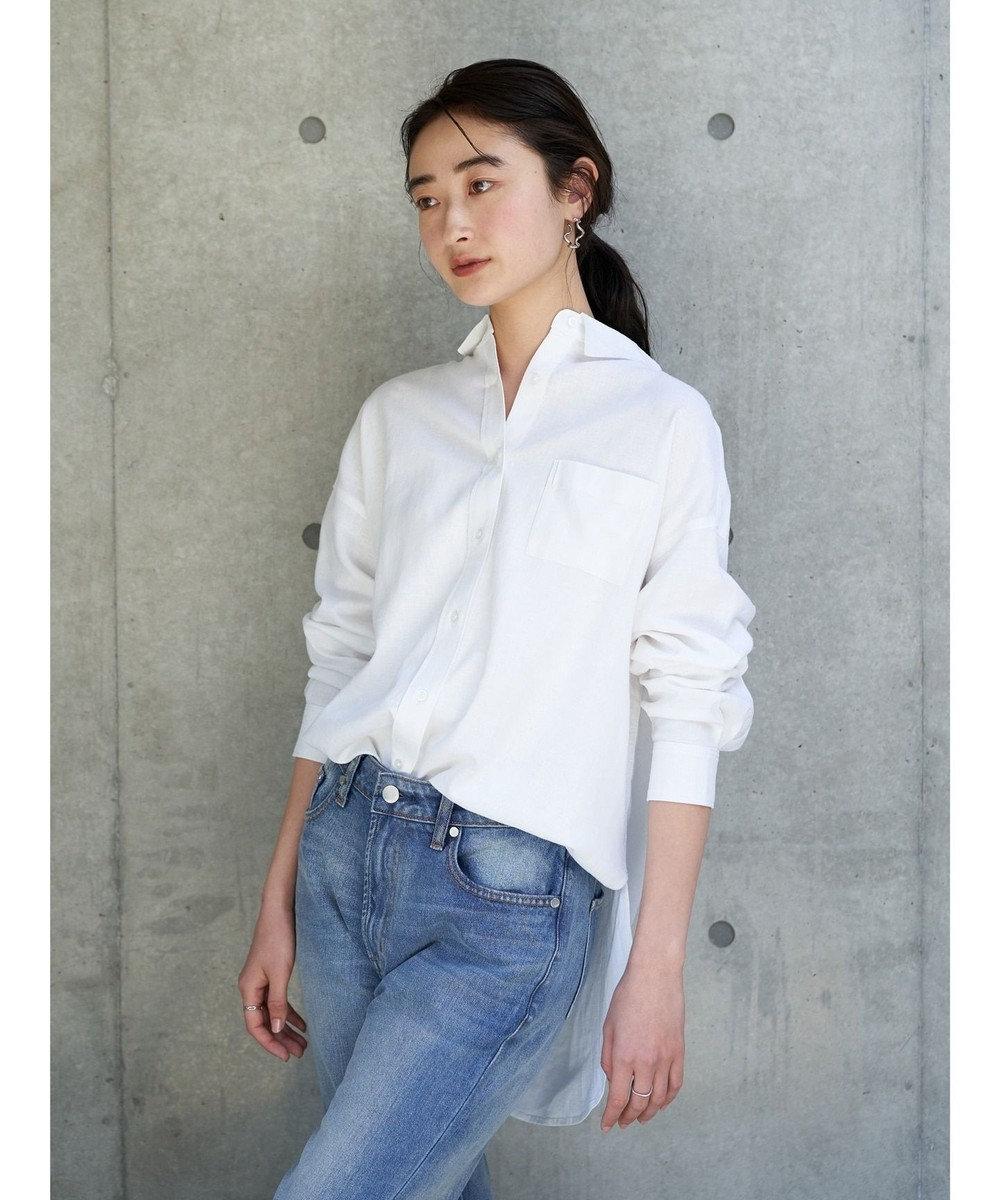 koe リネンベーシックシャツ Off White