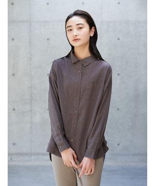 koe リネンベーシックシャツ Gray