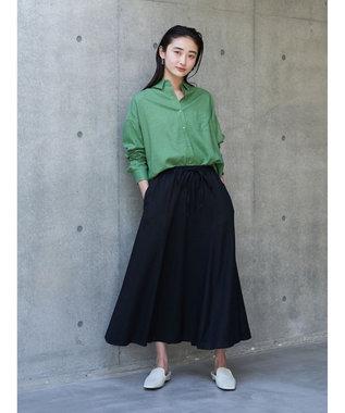 koe リネンベーシックシャツ Green