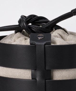 GRACE CONTINENTAL LCキャンバスレザ-bag ブラック