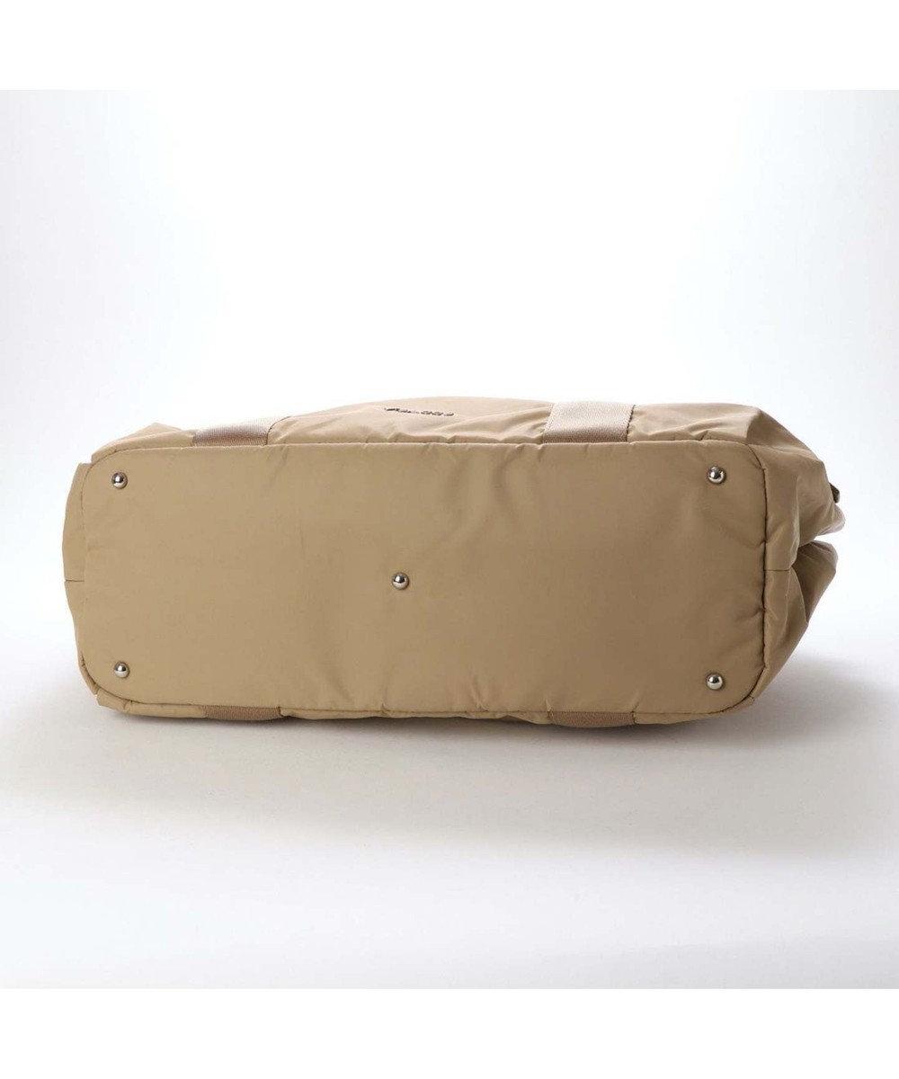 Y'SACCS リサイクルナイロン カジュアルテープボストンバッグ ベージュ