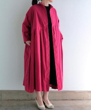 muuc 製品染めドレスコート レッド