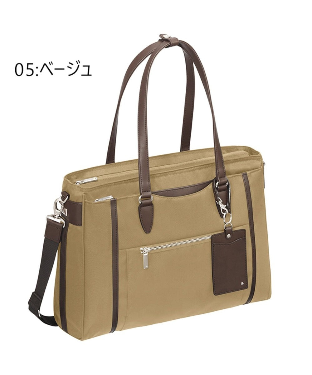 ACE BAGS & LUGGAGE ace. エース ビエナ2 トートバッグ 薄マチ A4/13インチ収納可能 ベージュ