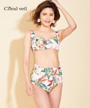 San-ai Resort(三愛水着楽園) 【Coral veil 】Lily Garden ノンワイヤービキニ オフホワイト