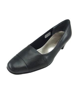 REGAL FOOT COMMUNITY 【ビューフィット】ストレッチ素材、甲深パンプス ブラック