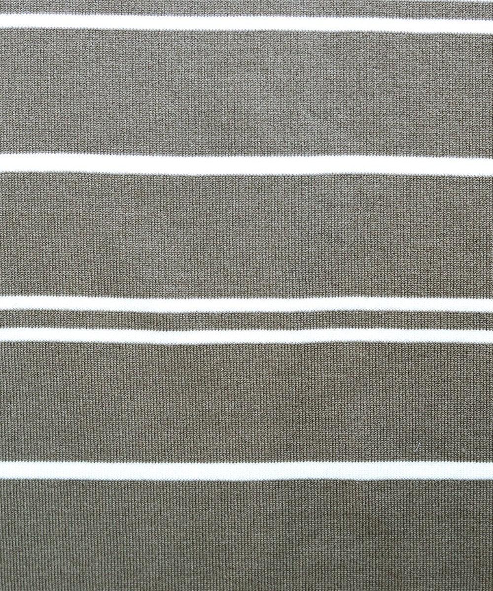 Tiaclasse 【洗える】体型カバーも叶うボーダーニットチュニック モカ