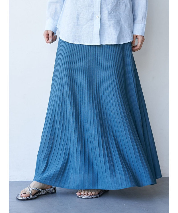AMERICAN HOLIC プリーツ風ニットロングスカート