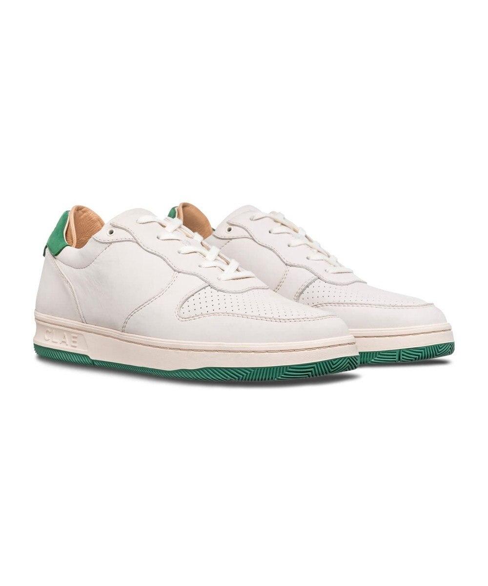 REGAL FOOT COMMUNITY 【クレイ ウィメンズ】LL09AMA/コート レザースニーカー ホワイト×グリーン