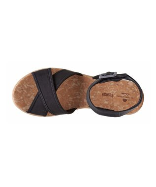 REGAL FOOT COMMUNITY 【クラークス ウィメンズ】Step CaliCoast/ウェッジヒールサンダル ブラック系生地