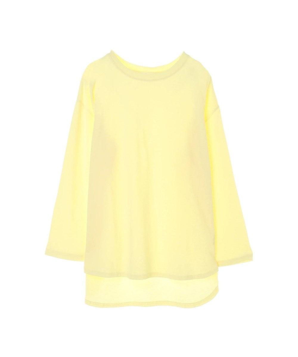 koe 前後差ロングTシャツ Yellow