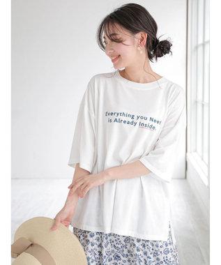 Green Parks ポイントカラーロゴTシャツ Off White
