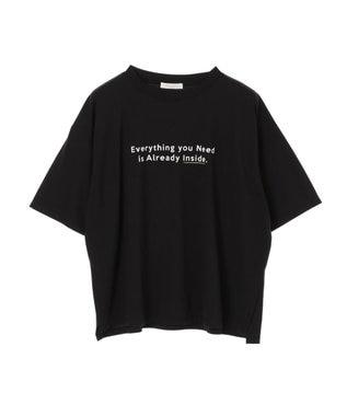 Green Parks ポイントカラーロゴTシャツ Black