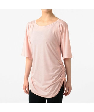 Chacott サイドドローストリングTシャツ ピンク
