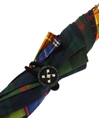 +RING 【プラスリング】【限定/日本製】晴雨兼用傘(長ショート)チェック SR282 マルチカラー