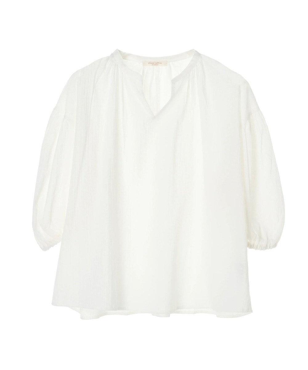 Green Parks スキッパーボリュームスリーブシャツ Off White