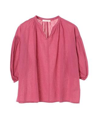 Green Parks スキッパーボリュームスリーブシャツ Pink