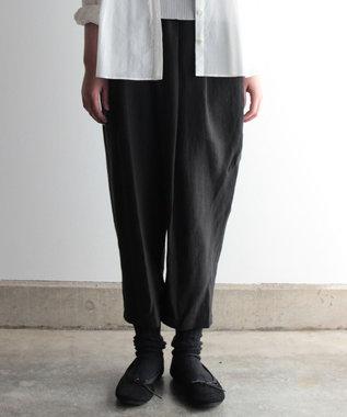 muuc リネン生地のイージーパンツ(ロング丈) ブラック