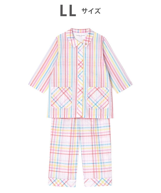 tsumori chisato SLEEP パジャマ 8分袖8分パンツ チェック柄とストライプ柄 /ワコール UDP369