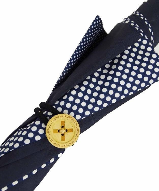 +RING 【プラスリング】数量限定 UNISEX 長傘60cm NVY-DOT T903