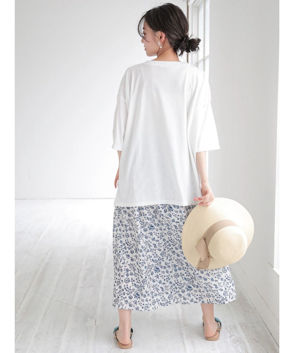 Green Parks 更紗柄ナロースカート Off White