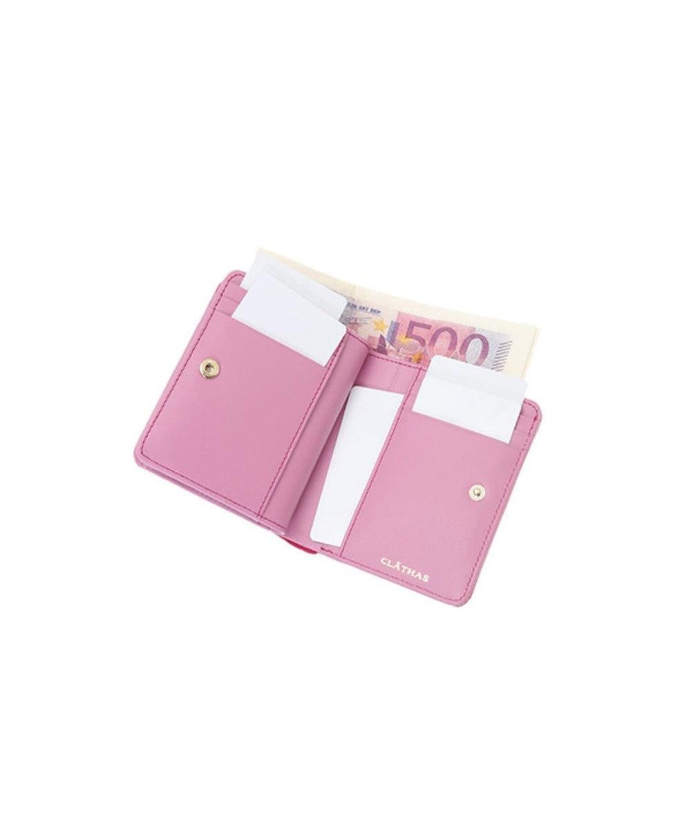CLATHAS CLATHAS クレイサス ラミ Lファスナー二つ折り財布 ピンク