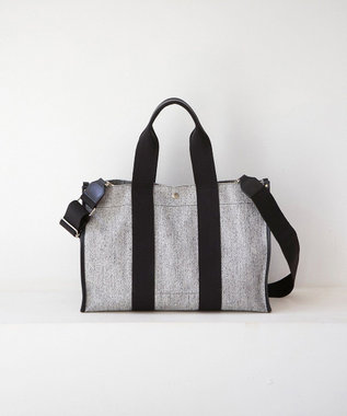 TOPKAPI [トプカピ ブレス]コットンキャンバス 2WAYトートバッグ ブラック