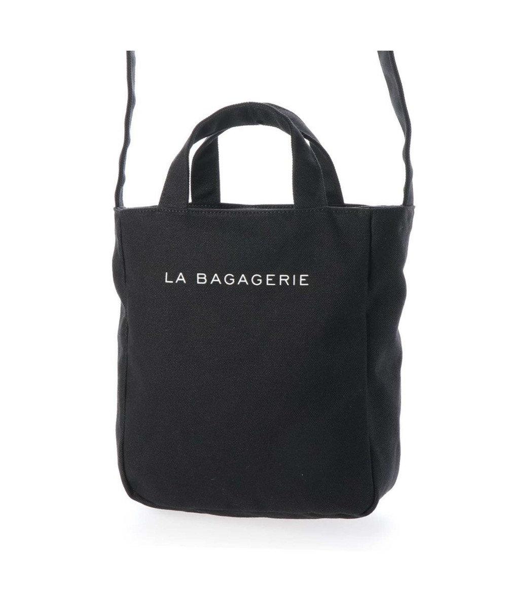 LA BAGAGERIE コットンキャンバス2wayトート Sサイズ ブラック