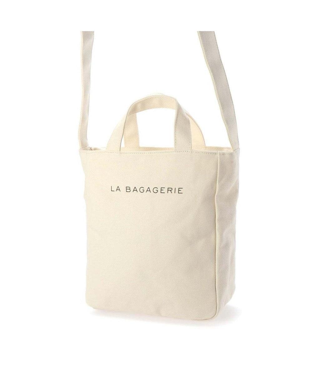 LA BAGAGERIE コットンキャンバス2wayトート Sサイズ アイボリー