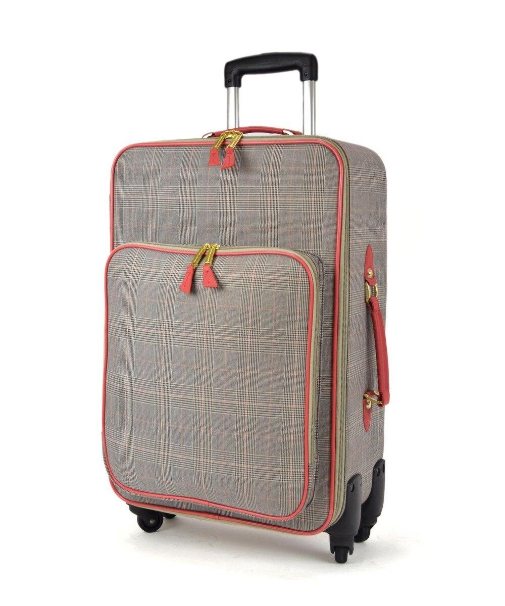 【オンワード】 tsumori chisato CARRY>バッグ グレンチェックキャリー スーツケース 約3〜4泊向け ピンク フリー レディース 【送料無料】