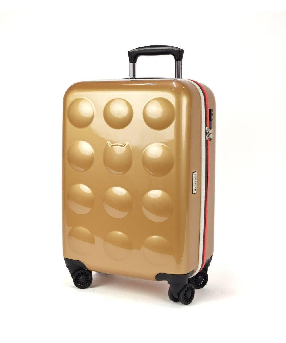 tsumori chisato CARRY YAKPAKダブルネームキャリーケース スーツケース 約3~4泊向け ゴールド