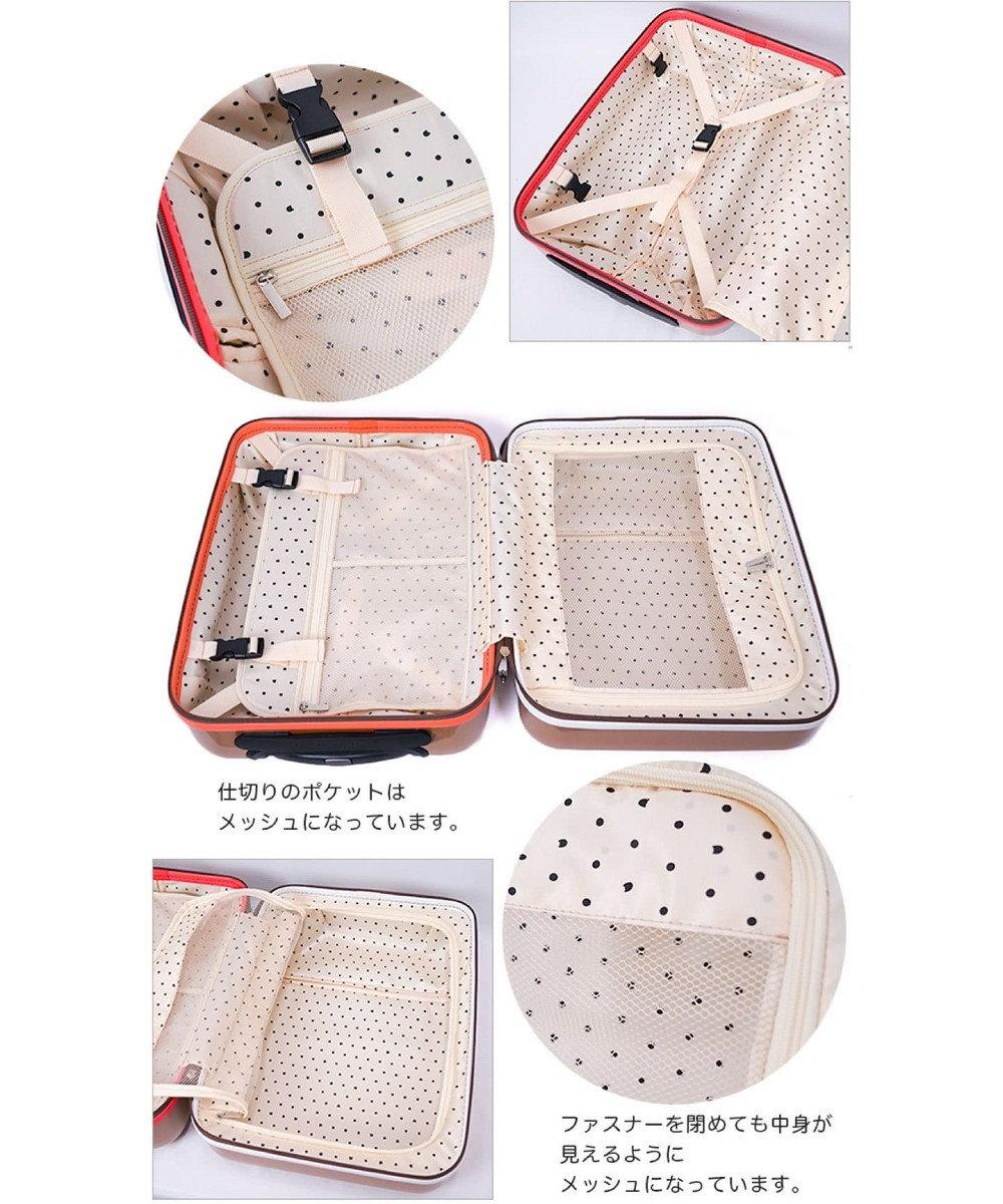 tsumori chisato CARRY YAKPAKダブルネームキャリーケース スーツケース 約3~4泊向け ホワイト