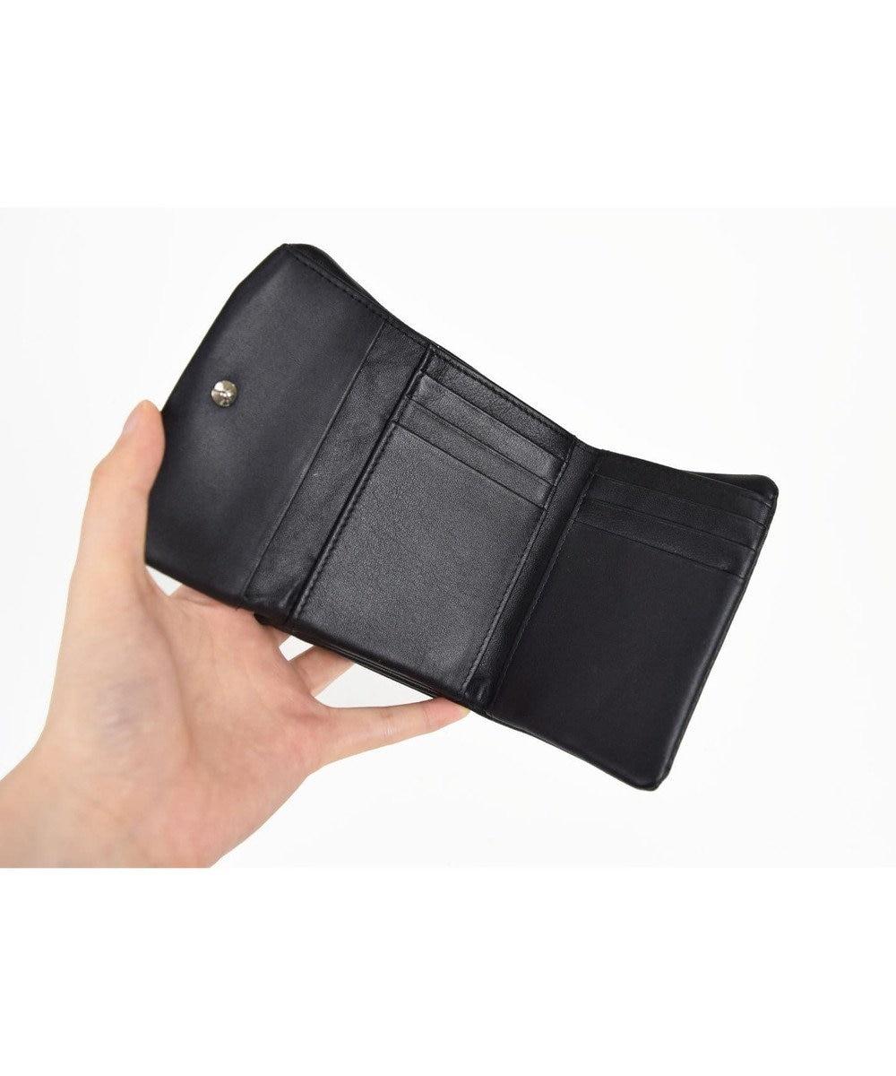 tsumori chisato CARRY ソフトレザー 折り財布 3つ折り ブラック