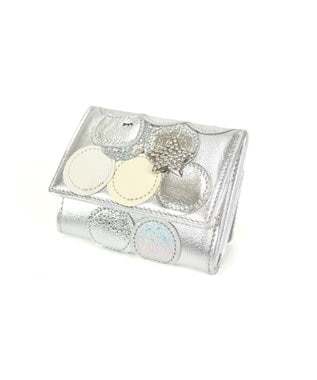 tsumori chisato CARRY 新マルチドット ミニ財布 3つ折り シルバー