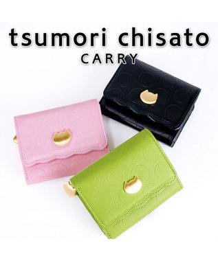 tsumori chisato CARRY ラウンドヘム 折り財布 3つ折り シルバー