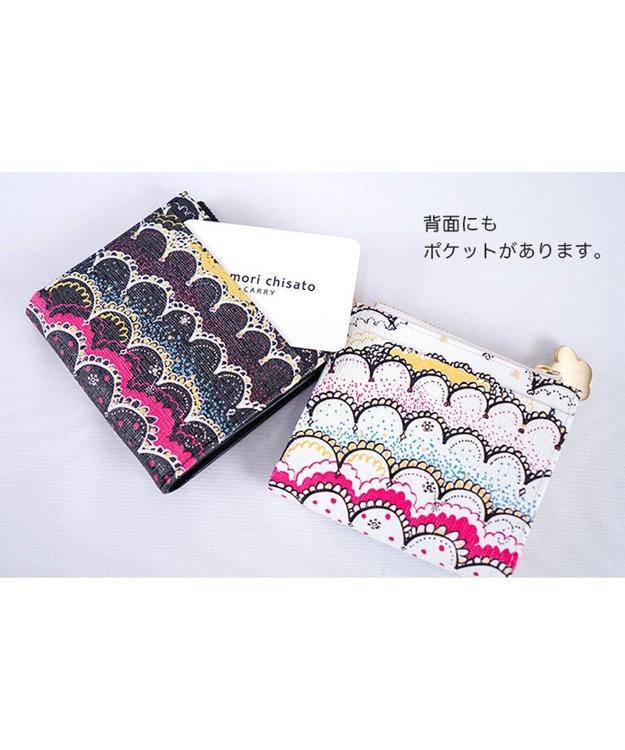 tsumori chisato CARRY スカラッププリント 折り財布 2つ折り