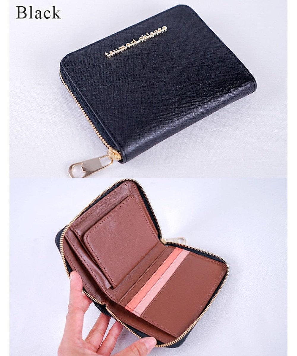 tsumori chisato CARRY メタルネーム ラウンドファスナー 折り財布 ブラック