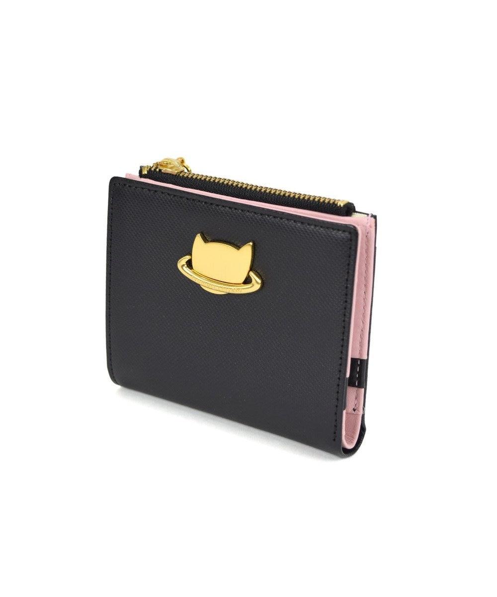 tsumori chisato CARRY ねこプラネット 折り財布 2つ折り ブラック