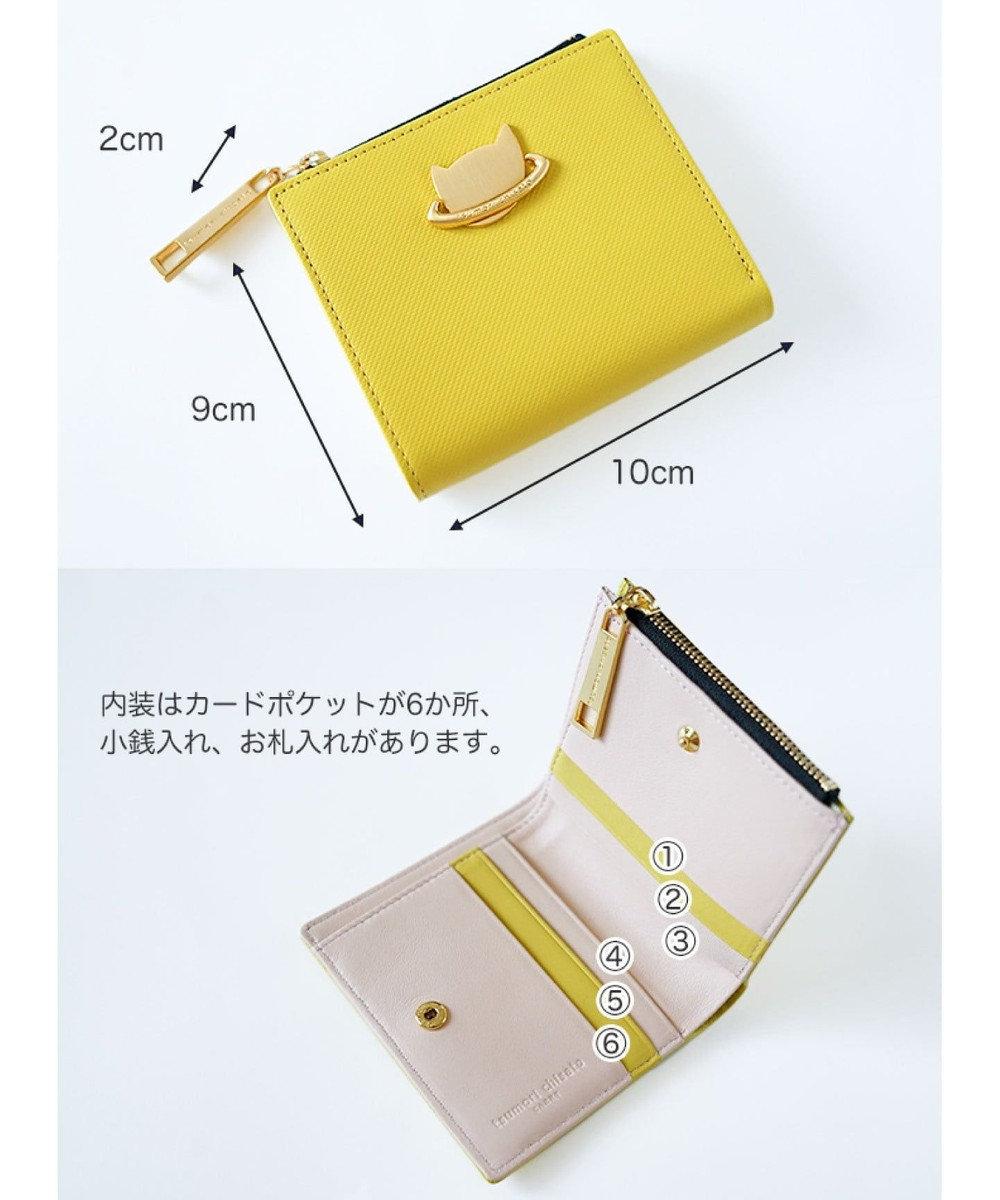 tsumori chisato CARRY ねこプラネット 折り財布 2つ折り オレンジ