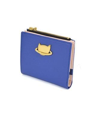 tsumori chisato CARRY ねこプラネット 折り財布 2つ折り ブルー